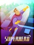Superhero Poster Illustration Stock Photography