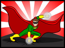 Superhero Preparing to Attack Royalty Free Stock Images