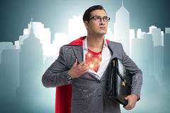 The superhero preparing to save the city Stock Image