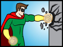 Superhero Punch Stock Images