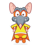 Superhero rat. Vector clipart picture of a superhero rat Royalty Free Stock Images