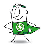Superhero of recycling is coming back Royalty Free Stock Image