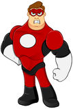 Superhero In Red Character Royalty Free Stock Photography