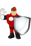 Superhero In Red Character Royalty Free Stock Images