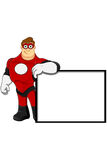 Superhero In Red Character Stock Photos