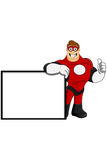 Superhero In Red Character Royalty Free Stock Image