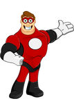 Superhero In Red Character Royalty Free Stock Photos