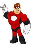 Superhero In Red Character Stock Photo