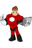 Superhero In Red Character Stock Image