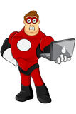 Superhero In Red Character Royalty Free Stock Photo
