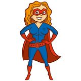 Super hero woman Cartoon character Royalty Free Stock Image