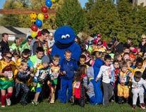 Superhero Run With Cookie Monsterh Stock Photography