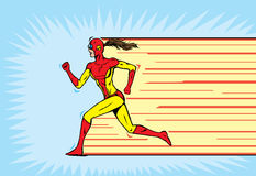 Superhero runner Royalty Free Stock Image