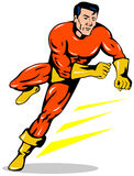 Superhero running Stock Photo