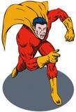 Superhero running Stock Photo