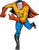 Superhero running Royalty Free Stock Photos