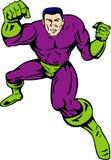 Superhero running punching Royalty Free Stock Photo