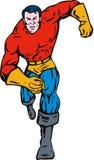 Superhero running towards you Stock Photo