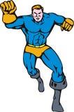 Superhero running towards you Stock Photos