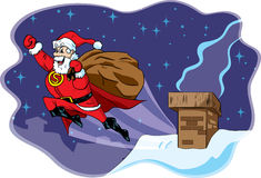Superhero Santa Royalty Free Stock Photos