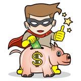 Superhero saving Stock Photos