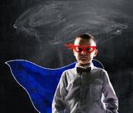 Superhero school boy royalty free stock images