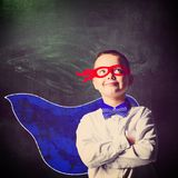 Superhero school boy Royalty Free Stock Photos