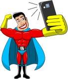 Superhero Selfie Isolated Royalty Free Stock Photos