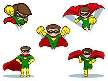 Superhero Set Stock Image