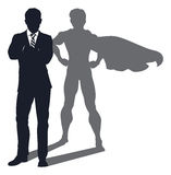 Superhero Shadow Businessman Stock Photo