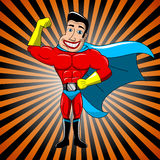 Superhero Showing Bicep Royalty Free Stock Photography