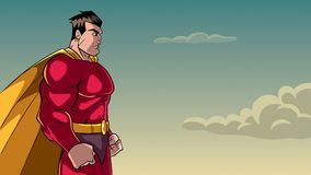 Superhero Side Profile Sky Background Stock Photography