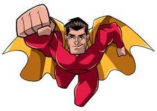 Superhero som kommer på dig Arkivbilder
