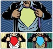 Superhero sous le cache illustration de vecteur