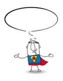 Superhero spreekt Royalty-vrije Stock Afbeeldingen