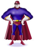 Superhero standing. Illustration of a superhero standing on white background Royalty Free Stock Image