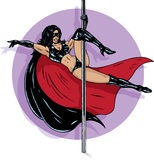 Superhero stripper Stock Images