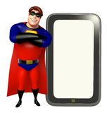Superhero with Tab Stock Photography