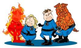 Superhero team. royalty free stock photography