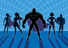 Superhero Team 2. Conceptual illustration depicting team of superheroes Stock Photo