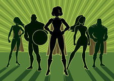 Superhero Team 3. Conceptual illustration depicting team of superheroes Royalty Free Stock Photos