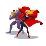 Superhero team Stock Image