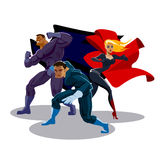 Superhero team vector illustration