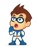 Superhero Thinking. Vector clipart picture of a superhero cartoon character thinking Royalty Free Stock Photography