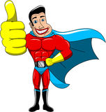 Superhero Thumb Up Isolated royalty free stock images
