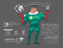The superhero to the environment. Applied to the assembly Poster Royalty Free Stock Photo