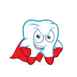 Superhero tooth posing. Clipart picture of a superhero tooth posing cartoon character Stock Photography