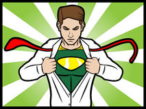 Superhero transformation Royalty Free Stock Image