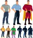 Superhero Transformation Stock Image