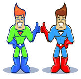 Superhero twins Royalty Free Stock Photos